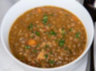 Vegan Hearty Spanish Style Lentil and Sausage Soup