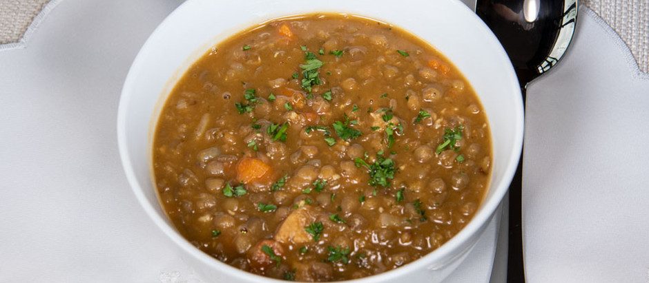 New Recipe: Vegan Hearty Spanish-Style Lentil and Sausage Soup