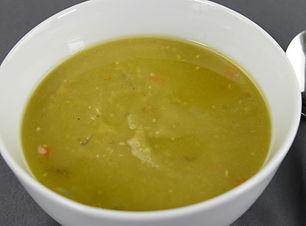 vegan smokey split pea soup