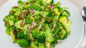 New Recipe: Vegan Broccoli Spoon Salad with Ras-El-Hanout Vinaigrette