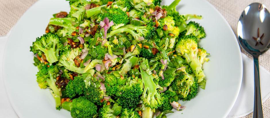 New Recipe: Vegan Broccoli SpoonSalad with Ras-El-Hanout Vinaigrette