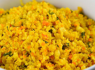 Vegan Cauliflower-Carrot Golden Couscous