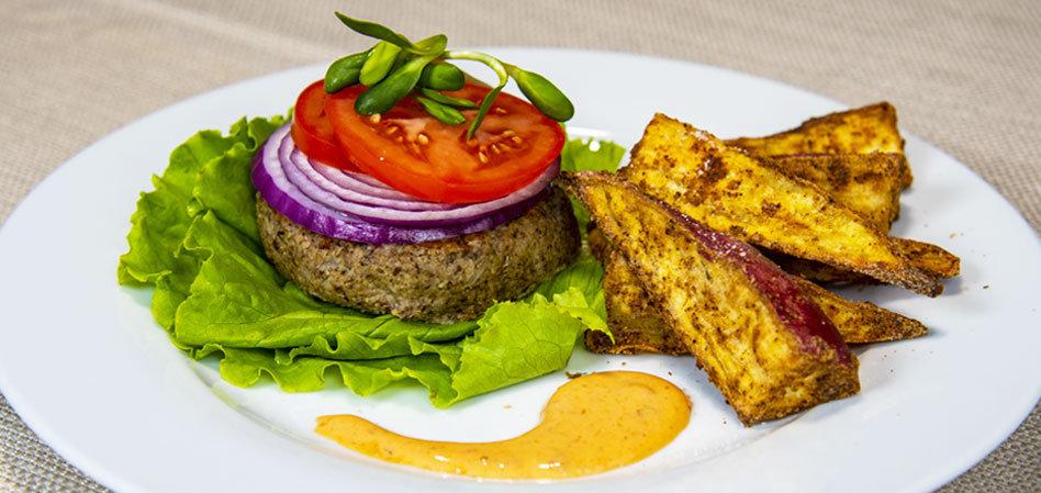 Vegan Lentil and Mushroom Burgers