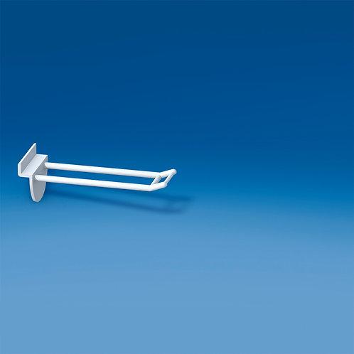 Dubbelspjut för spårpanel 100mm, liten prishållare