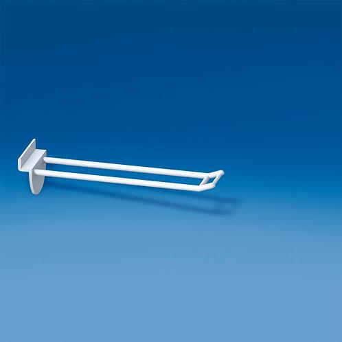 Dubbelspjut för spårpanel 150mm, liten prishållare