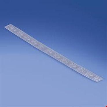 Transparent stripe med stansat hål