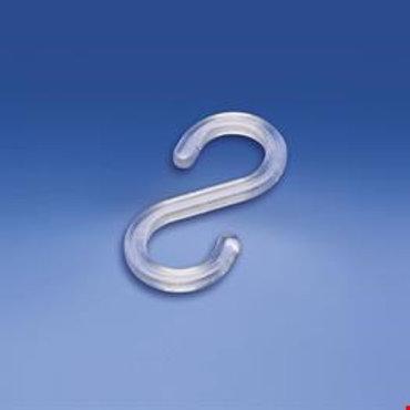 S-krok i plast 50mm, transparent