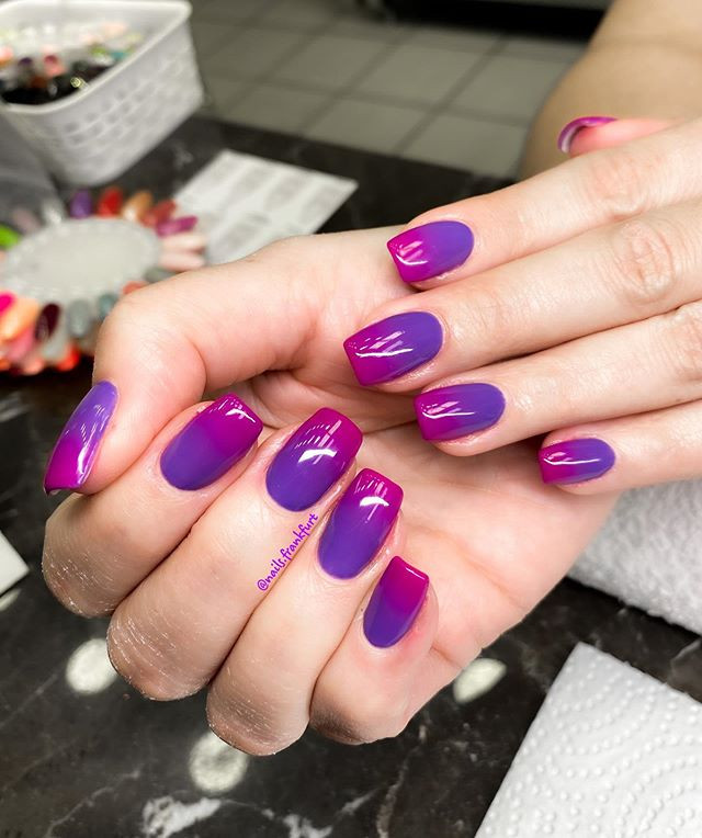 ombre gel nails