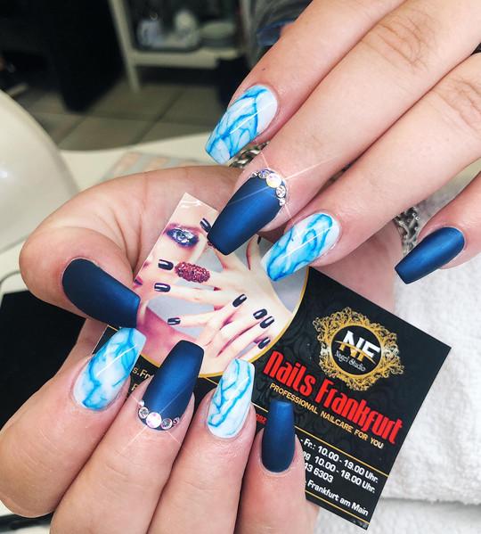 UV-Gel Blue Marble Ink