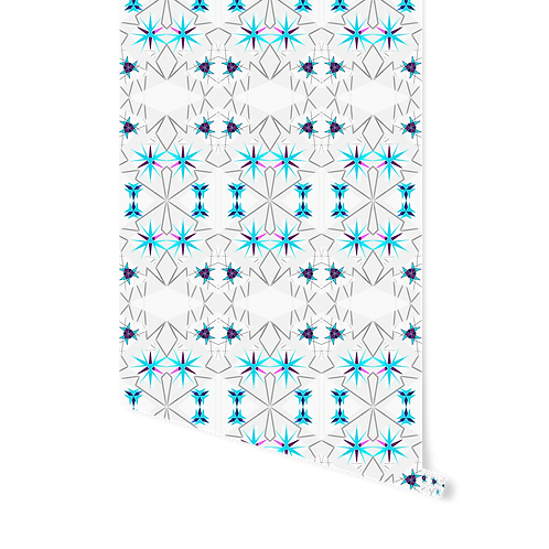 BLUE NORDIC STARS WALLPAPER