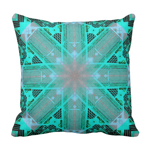 TURQUOISE MOROCCAN TILES PILLOW