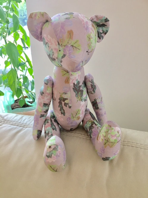 LIGHT PURPLE OAK LEAVES TEDDY BEAR