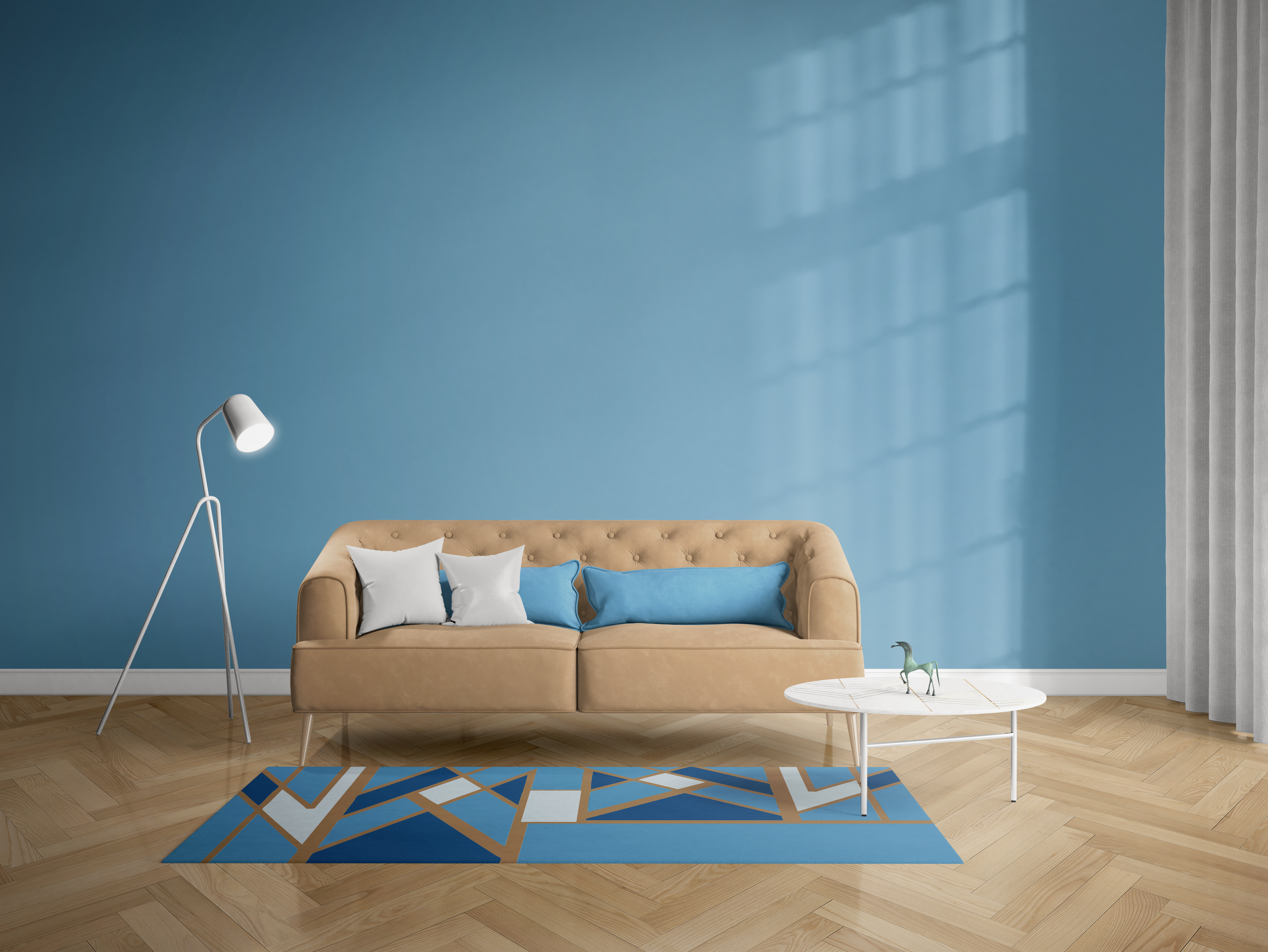 Tiled Arrow In Turquoise Rug
