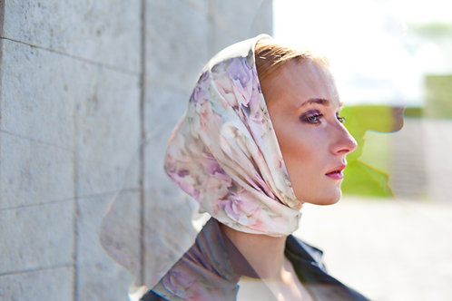 BOUGAINVILLEA UNICORN SILK SCARF