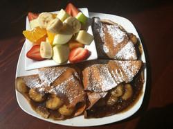 Banana & Chocolate chips Crepes