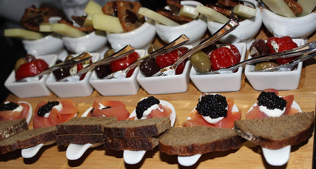 Sona's catering production hors d'oeuvres