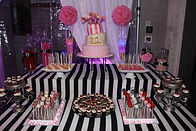 Sona's catering production dessert table
