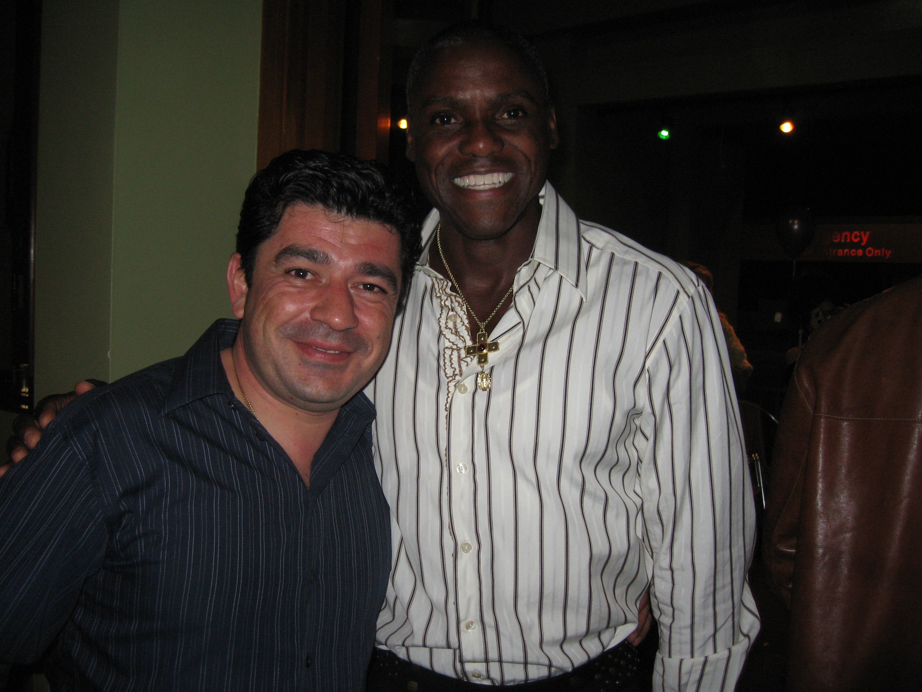 With Olimpic Champ Carl Lewis