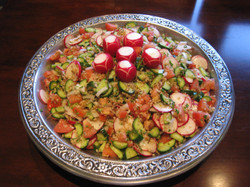 Crack Wheat Tomato Cucumber Salad