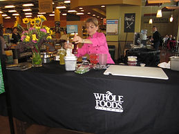 cooking lesson at wholefoods
