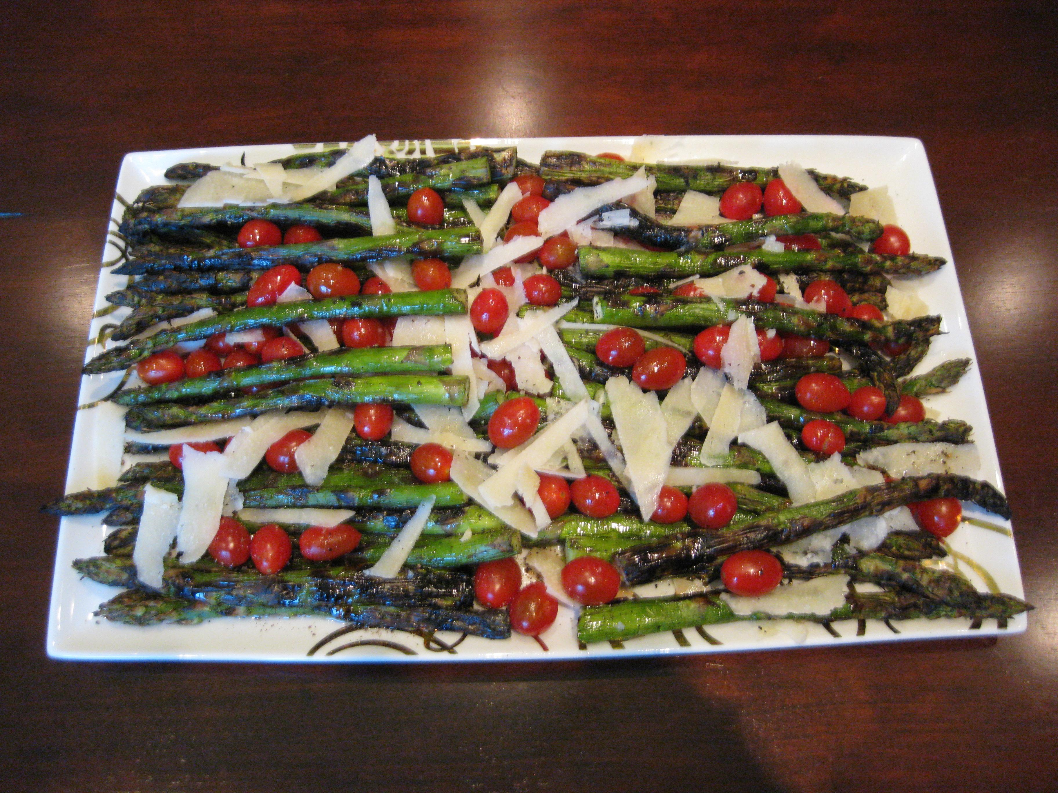 Grilled Asparagus Parmesan