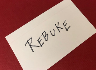 Finding Jesus in Rebuke