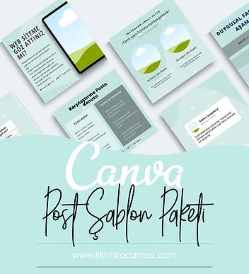 Kişisel markalar için özel tasarlanan canlı yayın, info vb, içerik konseptlerinde hazır post şablon paketi.