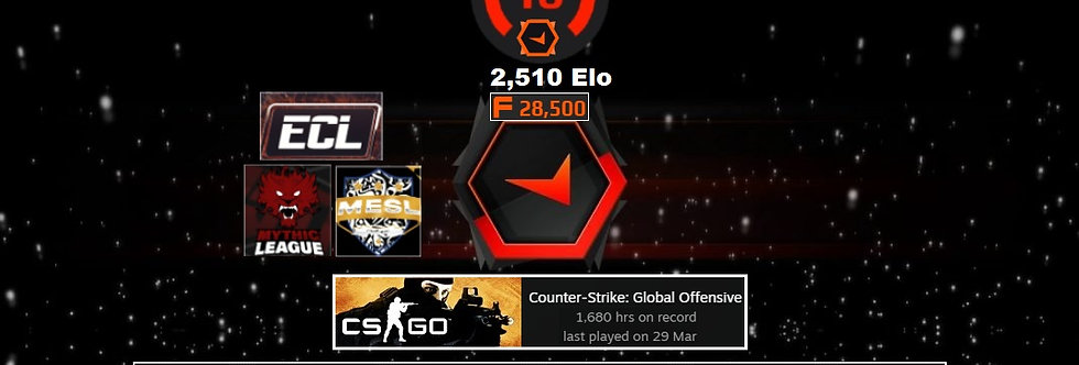 🌪️Faceit 2,510 Elo   1.62 K/D   1,680 Hours   28,500 Points   Instant Delivery