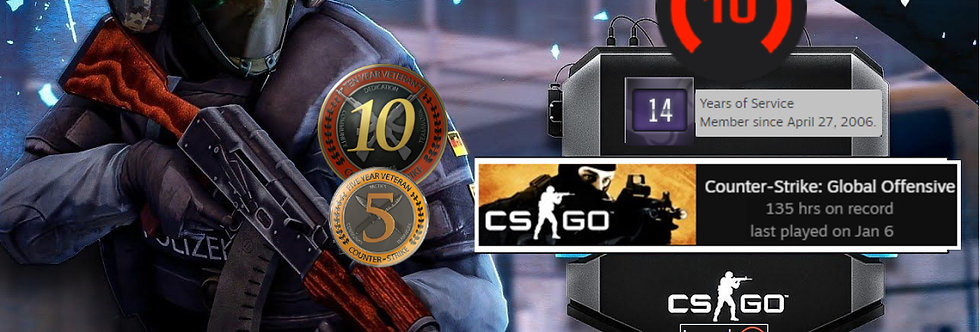 🎁 06' Faceit 2,012 Elo | 1.51 K/D | 10 & 5 Coin | Verified | Instant Delivery