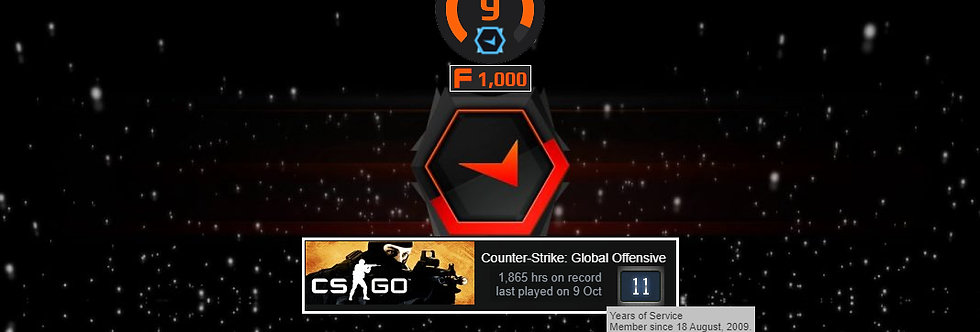 09' Faceit Level 9 | 1,865 Hours | 1,000 Points | Verified | Instant Delivery