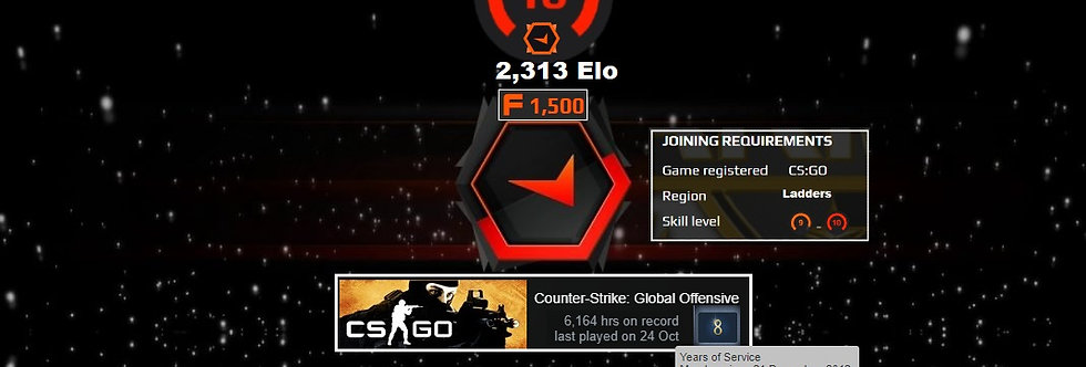 🌪️12' Faceit Level 2,313 | 6,164 Hours | 1,500 Points | Verified | Instant Dl.