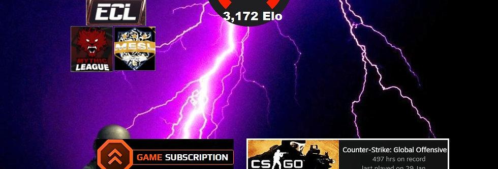 Faceit 3,172 Elo | 308 Matches | Market Unl. | 7,250 Points | Instant Delivery