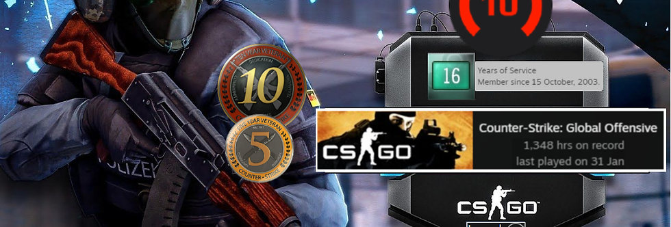 🌪️03' Faceit 2,220 Elo | 1.87 KD | 10 Year Vet Coin | 1,348 Hours | Instant Dl.