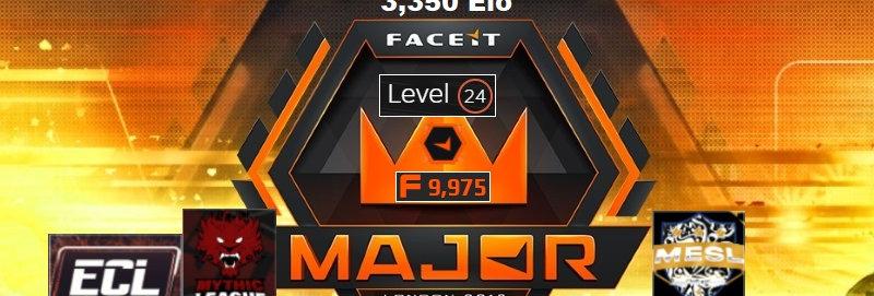 👑 Faceit 3,350 Elo | 477 Matches | Market Unlocked | 9,975 Pts | Instant Dl.