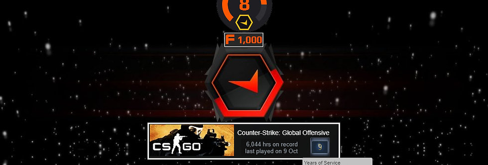 🎁 Faceit Level 8 +1 Win | 6,044 Hours | 1,000 Points | Verified | Instant Dl.