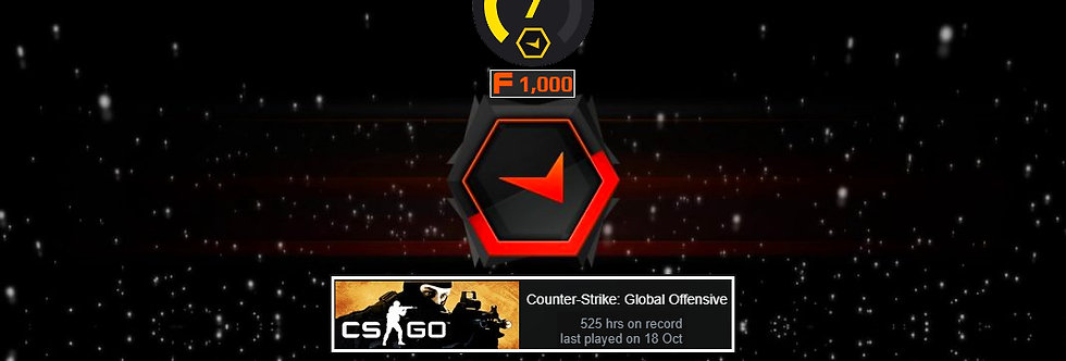 Faceit Level 7 | 525 Hours | 1.47 K/D | 1,500 Points | Instant Delivery