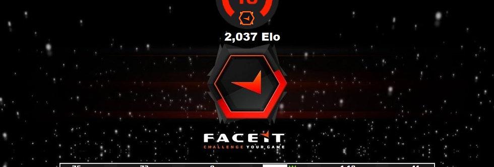 🎁 Faceit 2,037 Elo | 1.18 K/D | Verified | Instant Delivery