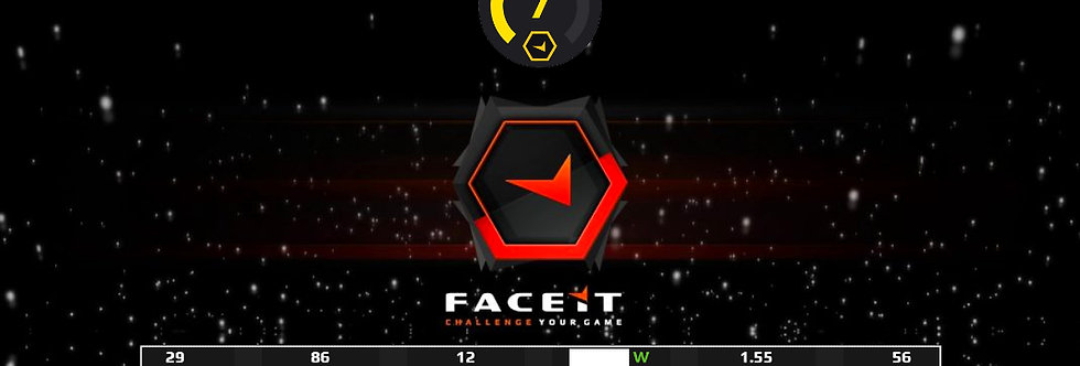 Faceit Level 7   1.55 K/D   22Avg. Kills   Verified   Instant Delivery