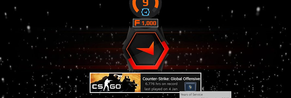 12' Faceit Level 9 | 1.35 K/D | 6,776 Hours | 1,500 Points | Instant Delivery