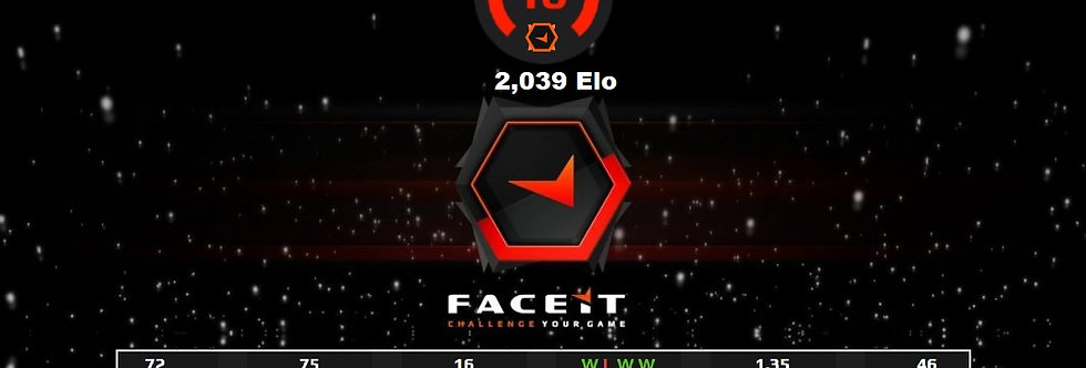 🎁 Faceit Level 10+ 1 Win | 1.35 K/D | Verified | Instant Delivery