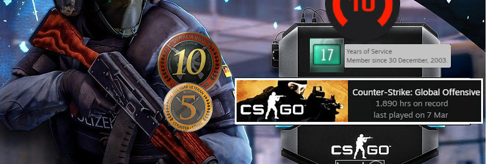 🎁 03' Faceit 2,112 Elo   2.08 K/D   10 & 5 Coin   Verified   Instant Delivery