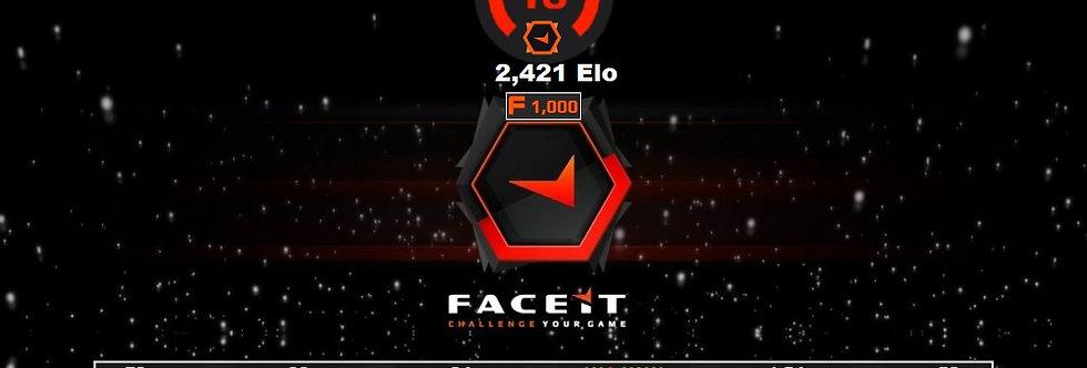 Faceit 2,421 Elo   1.54 K/D   1,000 Points   Verified   Instant Delivery.