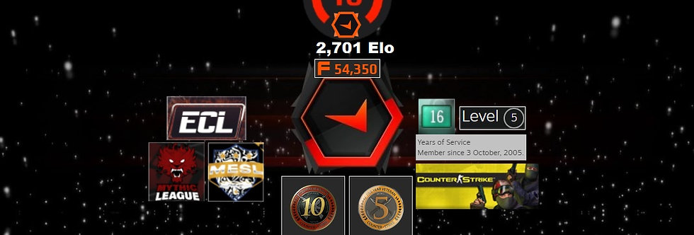 05' Faceit 2,701 Elo | 1.43 K/D | 10 & 5 Coin | 54,350 Points | Instant Delivery