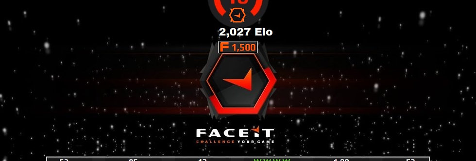 Faceit Level 10+1 Win | 1.99 K/D | 1,500 Points | Verified | Instant Delivery