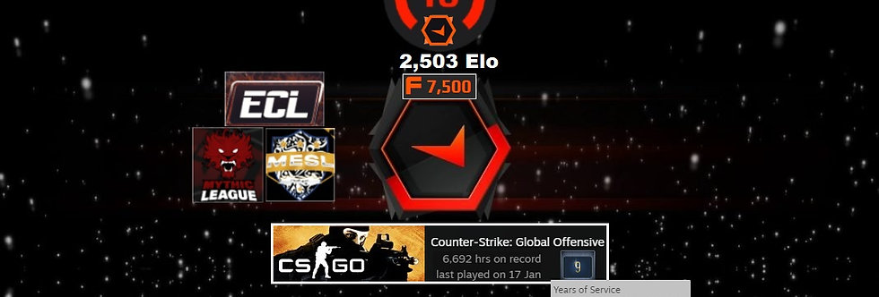 💥12'Faceit 2,503 Elo | 1.81 K/D | 6,692 Hours | 7,500 Points | Instant Delivery
