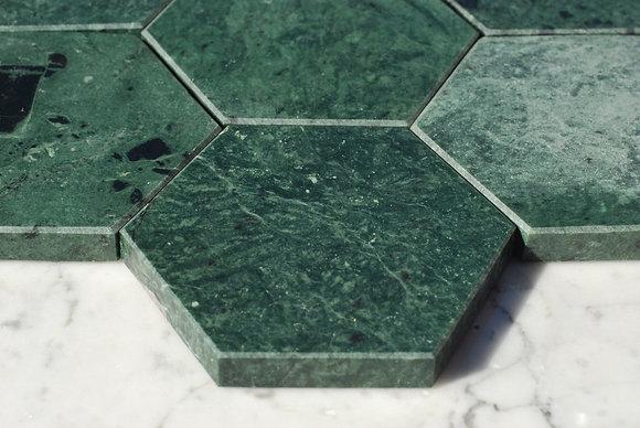 Glasunderlägg i den trendiga gröna marmorn!