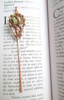 Green Tree Of Life Wire Wrapped Book Mark
