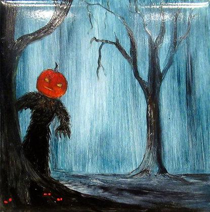 Halloween Tile Pumpkin Man