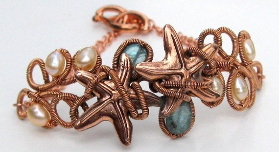 Tutorial Wire Wrapped Copper Sea Star Pendant or Bracelet link