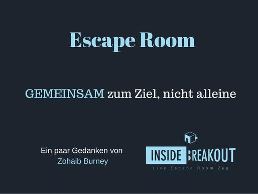 Escape Room: GEMEINSAM zum Ziel, nicht alleine